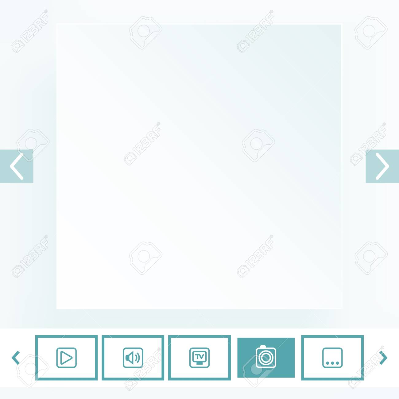 Template for placement of media content Stock Vector - 18640904