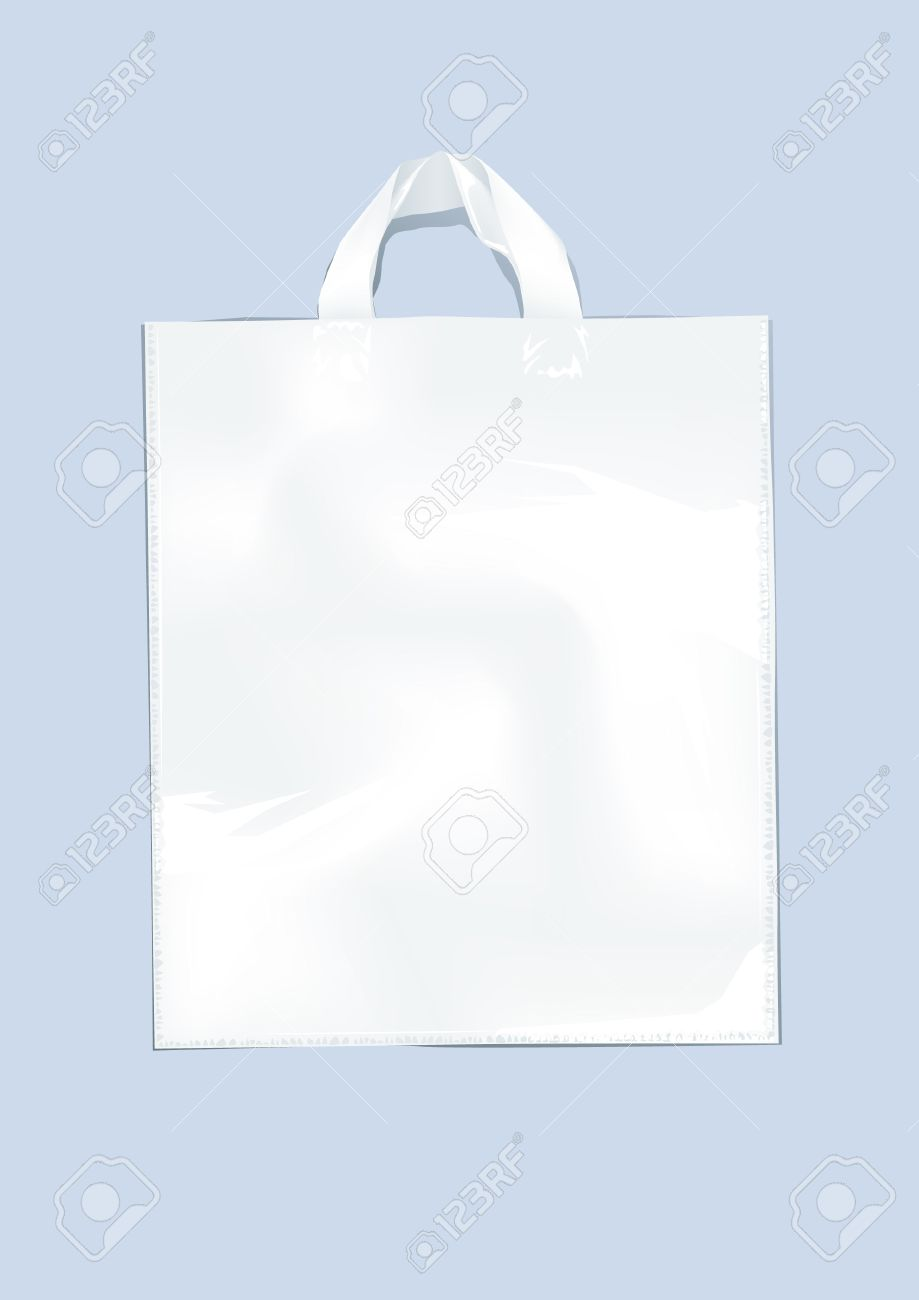 White plastic bag on a perse background Stock Vector - 5961797