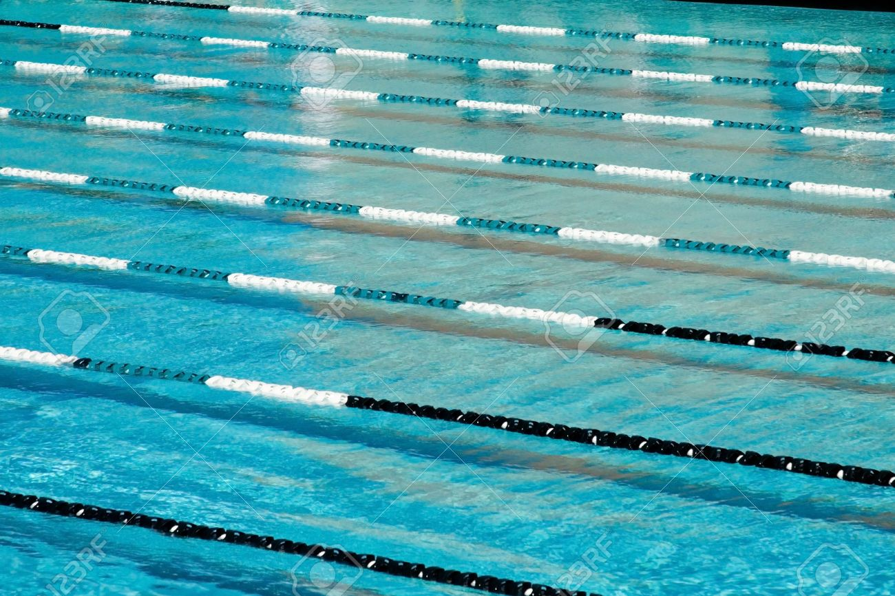 Swimming Pool Lane Lines Background the water texture patterns of a competitive swimming pool after