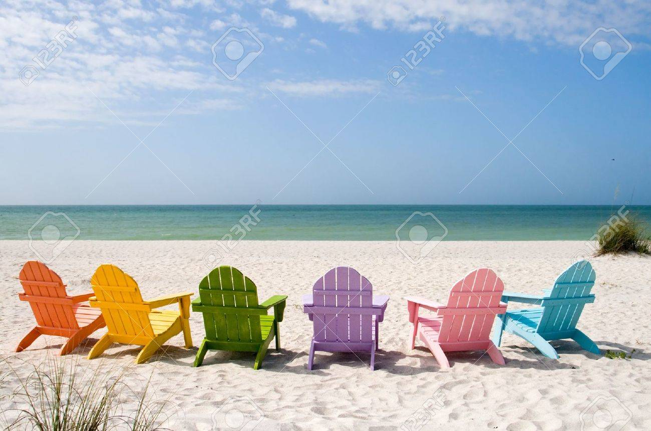 Adirondack chair beach - Adirondack Chair Beach And Ocean Scenics For Vacations And Summer Getaways