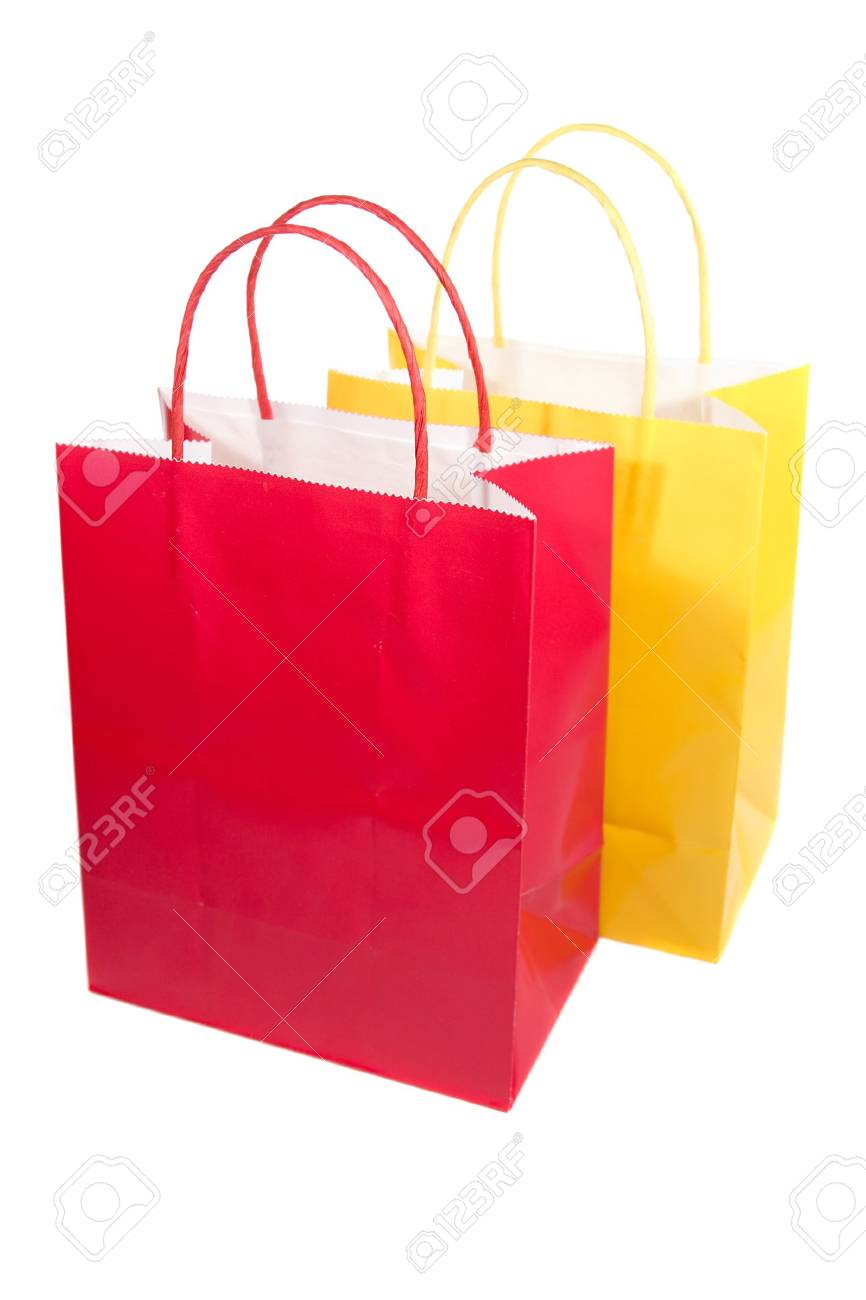 Isolated shopping bag for a retail shopping experience Stock Photo - 3578300