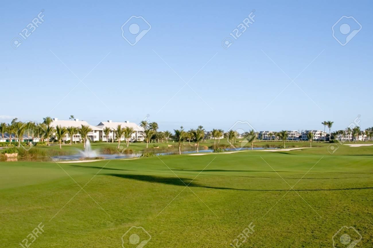 Retirement community condos on a resort golf course Stock Photo - 4502626