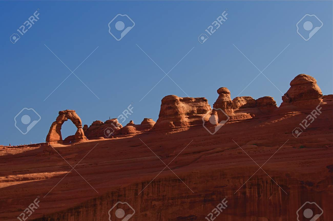 Natural red rock arches at Arches National Park in Utah USA Stock Photo - 4502635