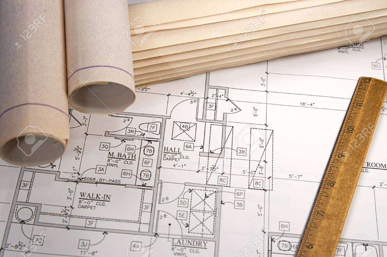 Blueprints For Homes dream house plans picture collection website house floor plans blueprints blueprint homes floor plans photo gallery Architectural Blueprints Of New Homes And Communities Stock Photo 5452368