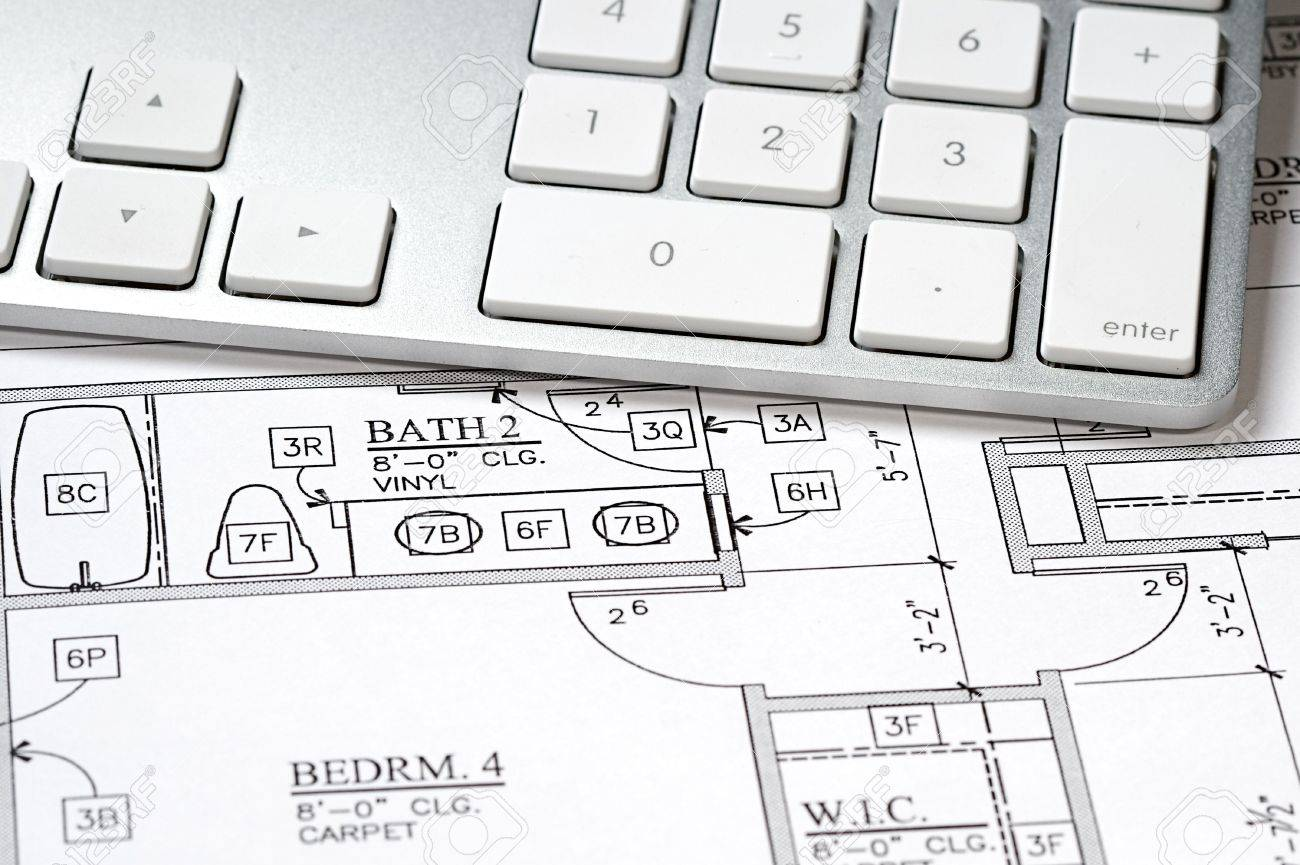 Modern arcbhitects offic with blueprint and computer keyboard stock modern arcbhitects offic with blueprint and computer keyboard stock photo 5574861 malvernweather Images