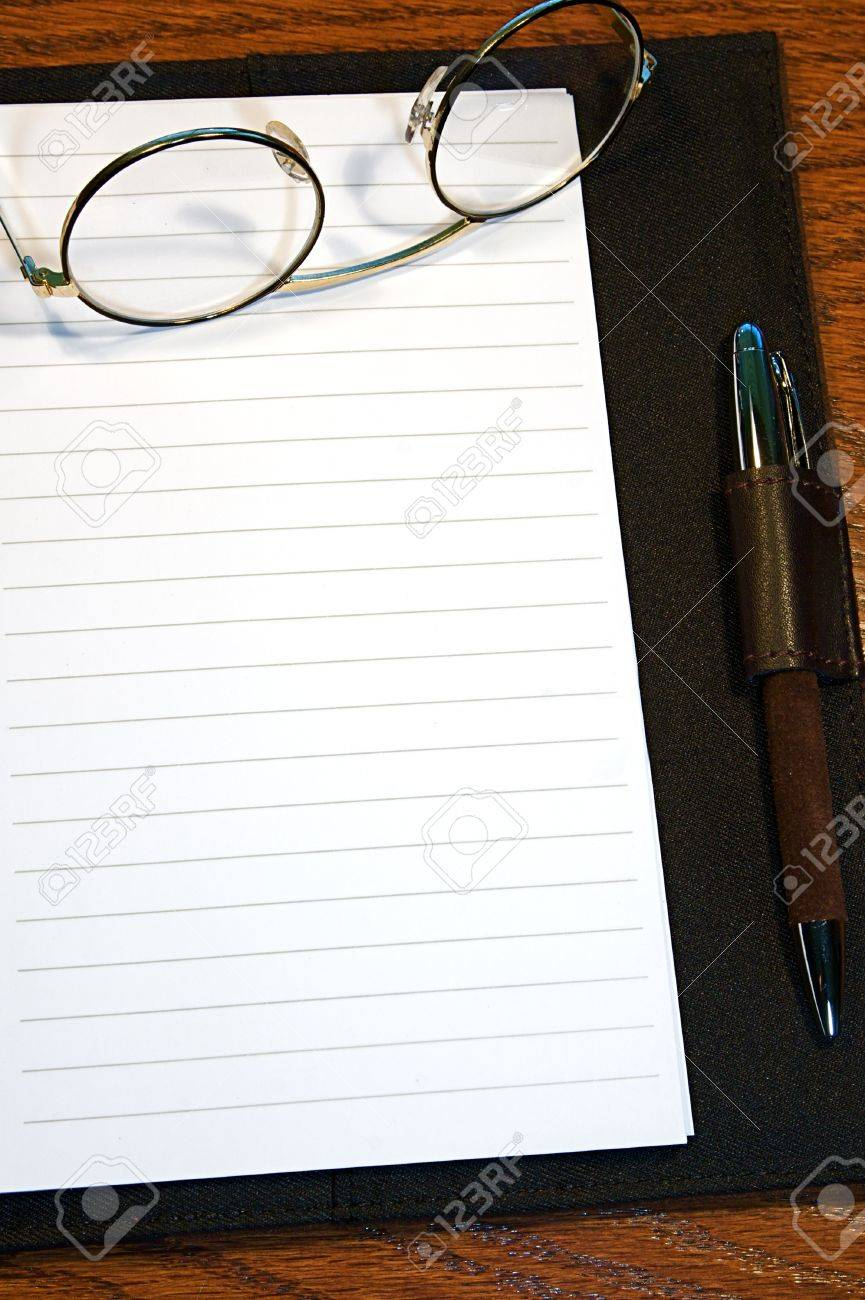Lined Journal Or Diary Page, Blank And Ready For Text. Stock Photo ...