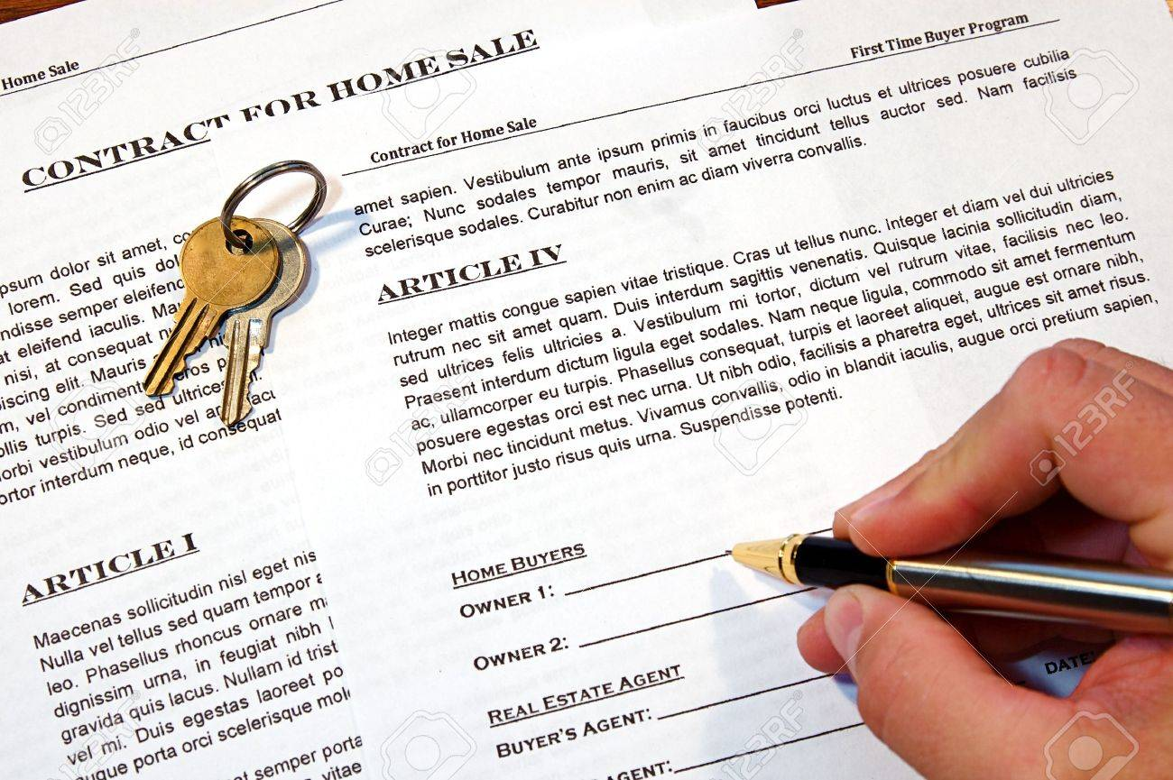 Contract for the sale of a New Home (lorem ipsum - fake text) Stock Photo - 9162262