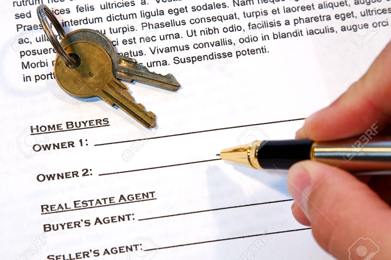Vertrag Für Den Verkauf Eines New Home Lorem Ipsum Fake Text