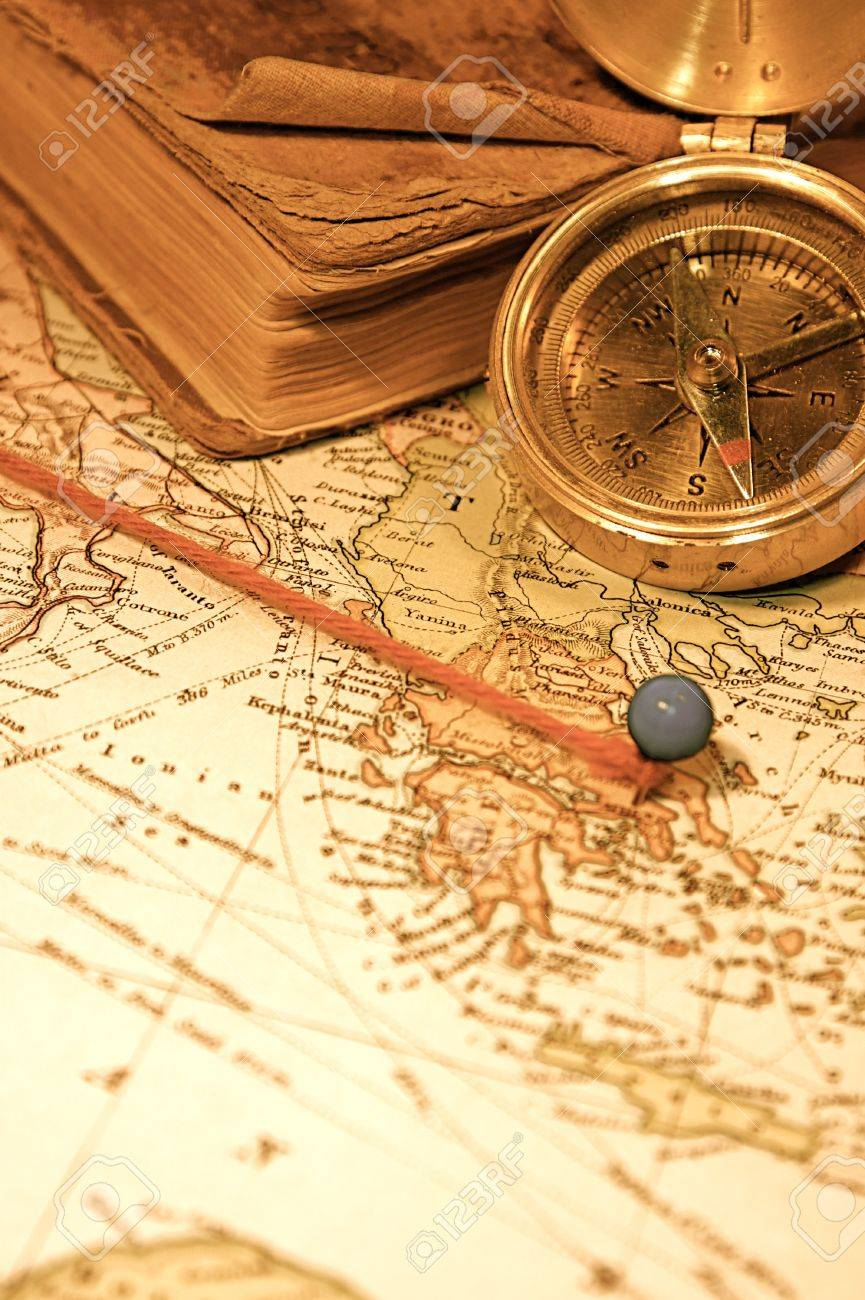 Vintage 1907 Copyright EXPIRED Map Of A World Traveler – World Traveler Map Set