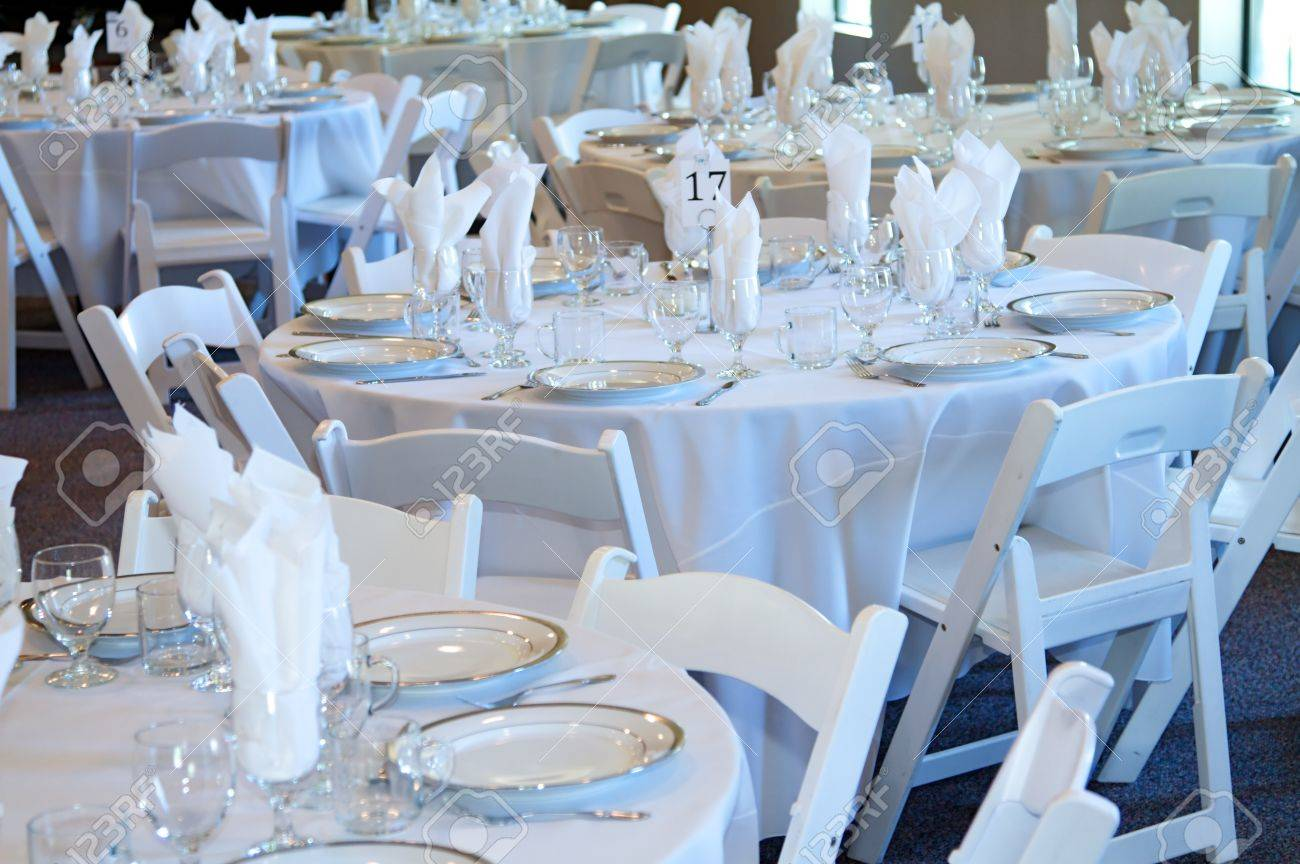 Wedding Reception Table Top With Flatware And Place Settings Stock Photo Picture And Royalty Free Image Image 9781831