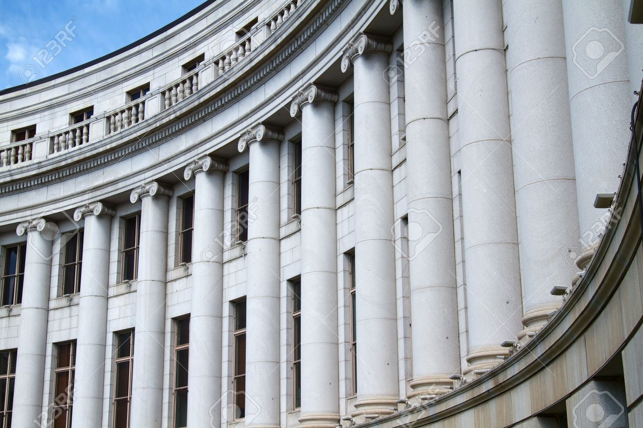 The Stone Column Elements On Classical Architecture Stock Photo ...