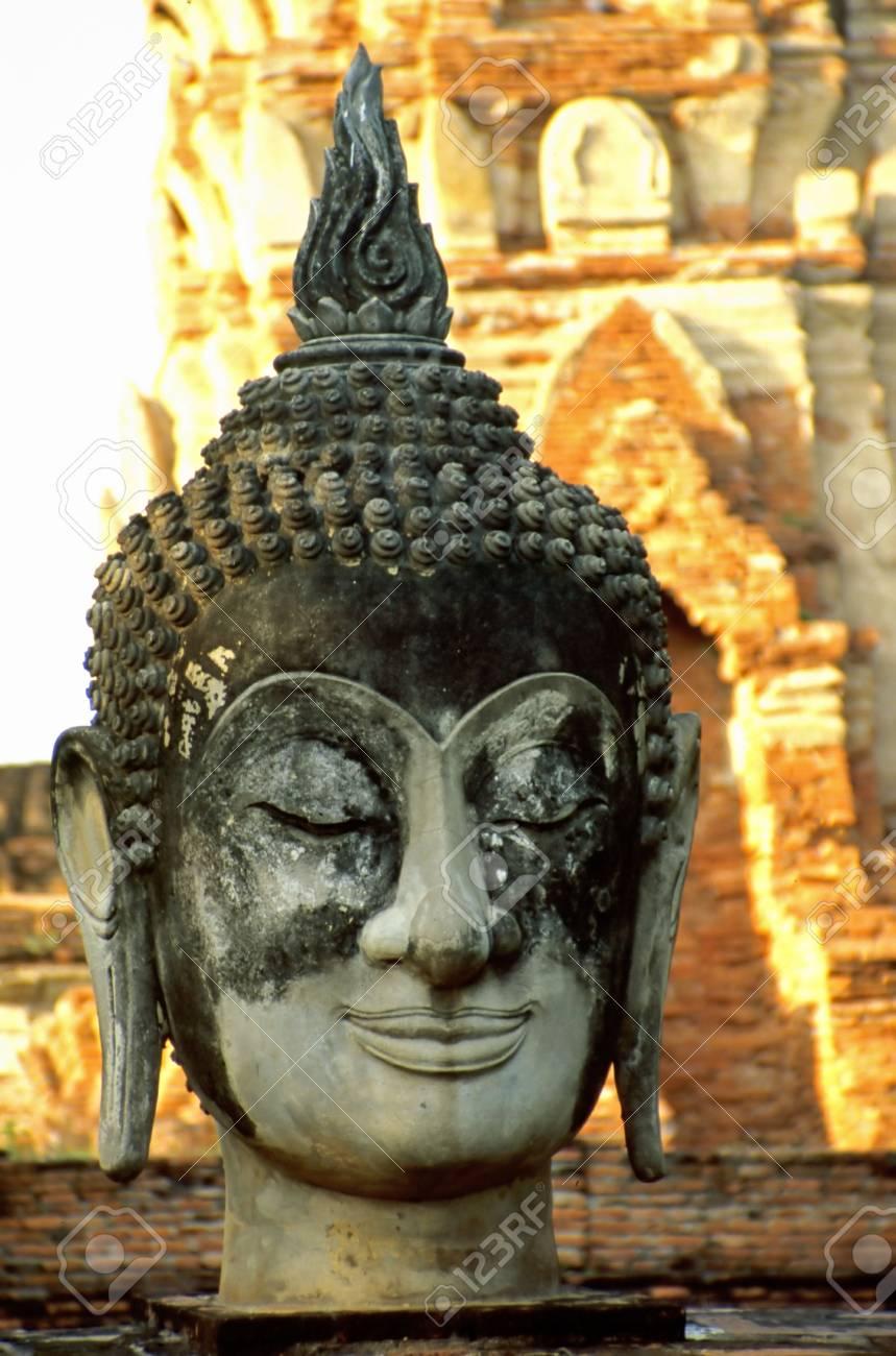 Head of Buddha statue in Ayutthaya History Parc Stock Photo - 2701425