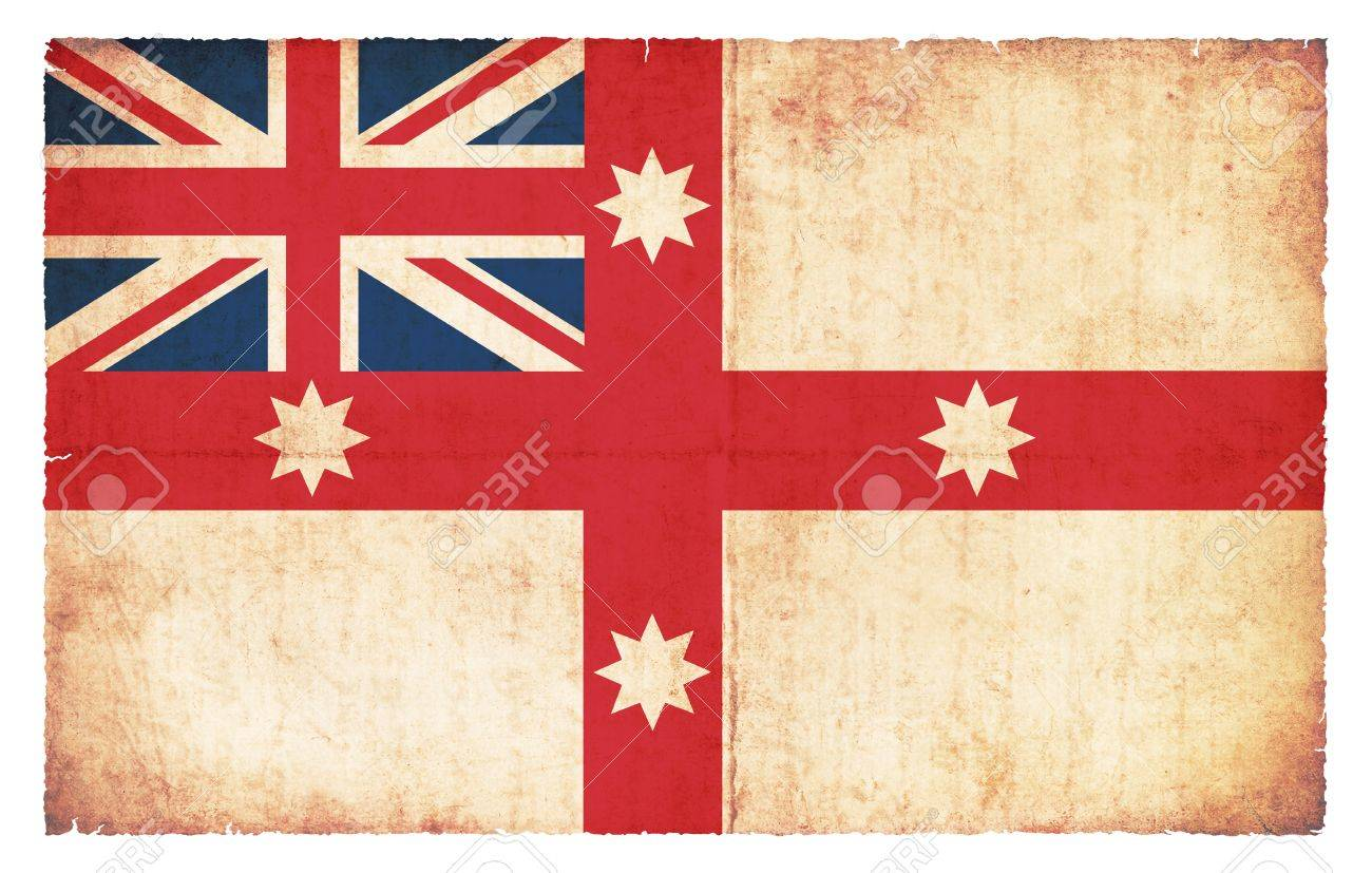 Historic Flag Of Australia Created In Grunge Style, Valid 1830 Stock Photo    22113433
