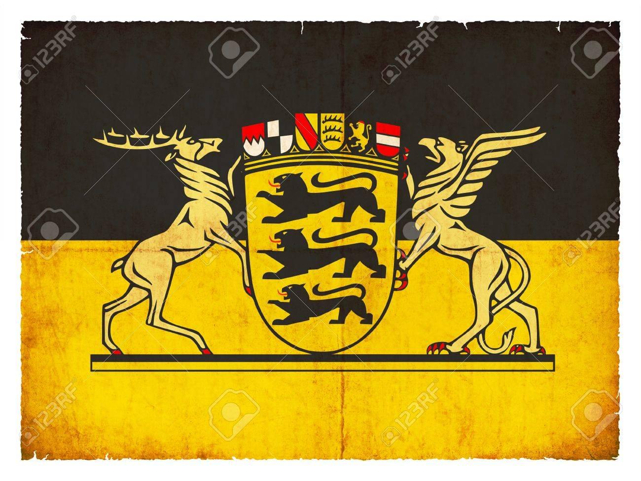 Flagge Der Deutschen Provinz Baden Wurttemberg Erstellt Im Grunge Stil Mit Wappen Lizenzfreie Fotos Bilder Und Stock Fotografie Image 23812160