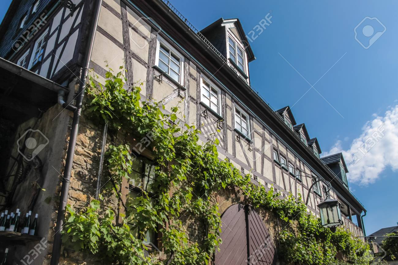 Archway At A Vineyard In Eltville, Rhine, Germany Stock Photo ...