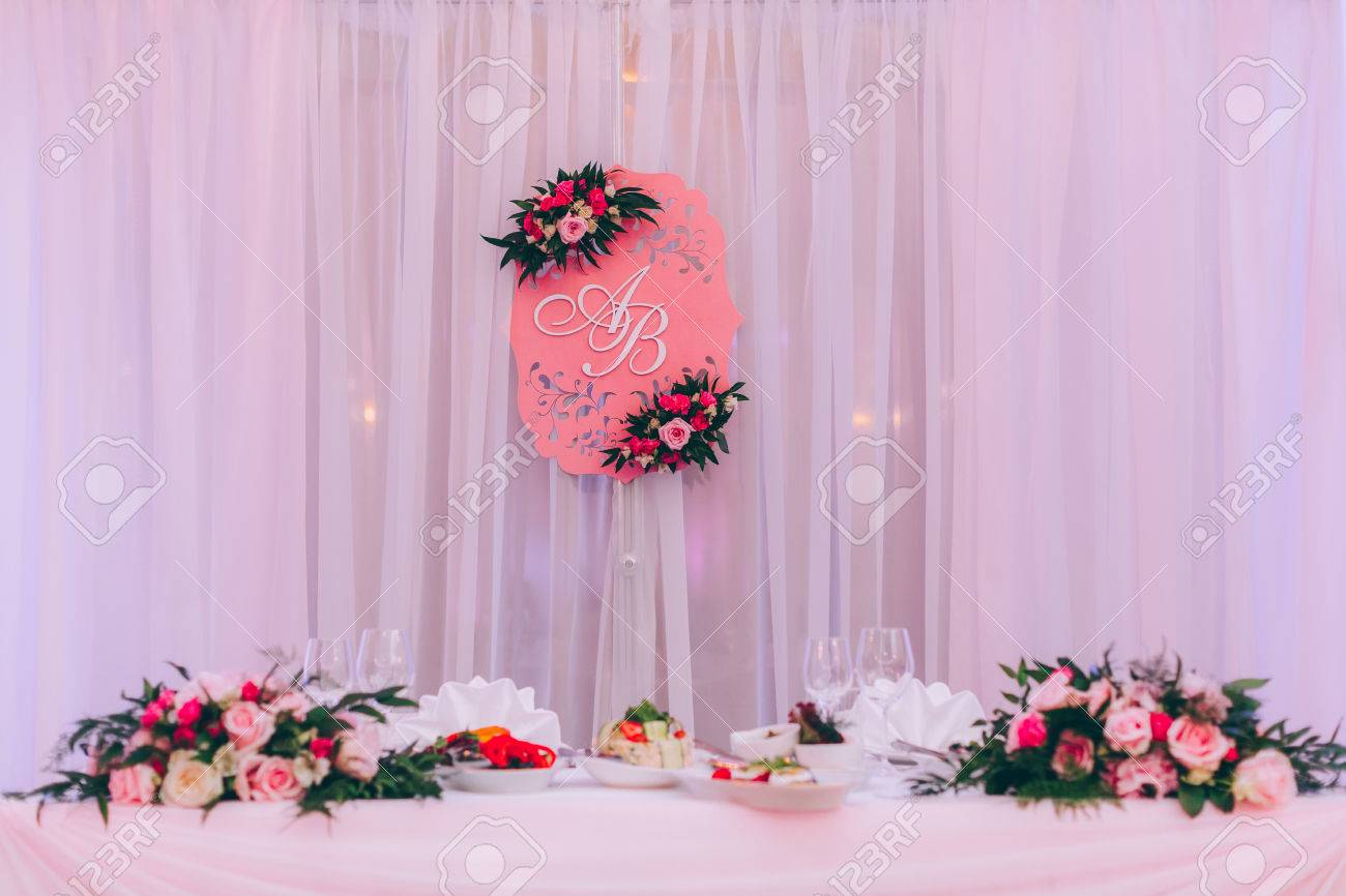 Table Set For An Event Party Or Wedding Reception, Spring Theme ...