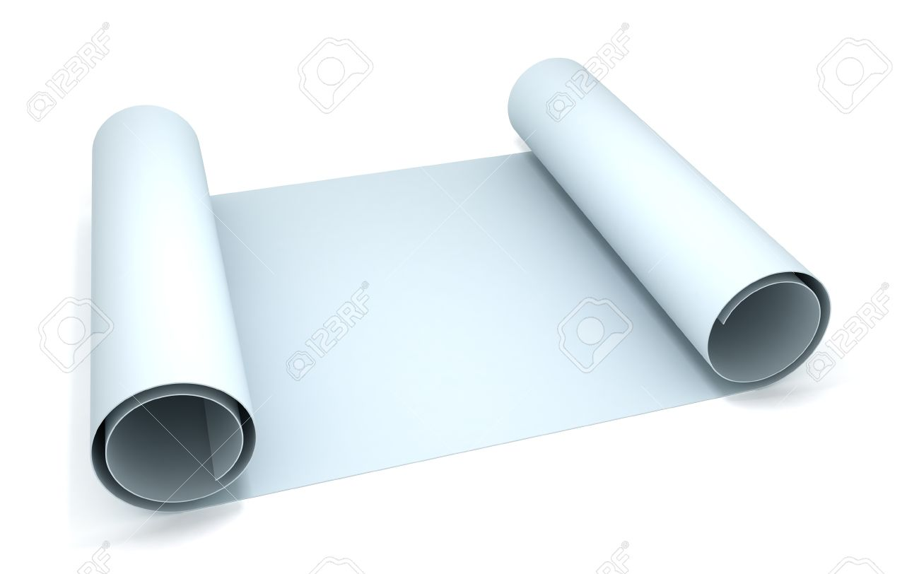 3d blank blueprint roll of paper stock photo picture and royalty 3d blank blueprint roll of paper malvernweather Image collections