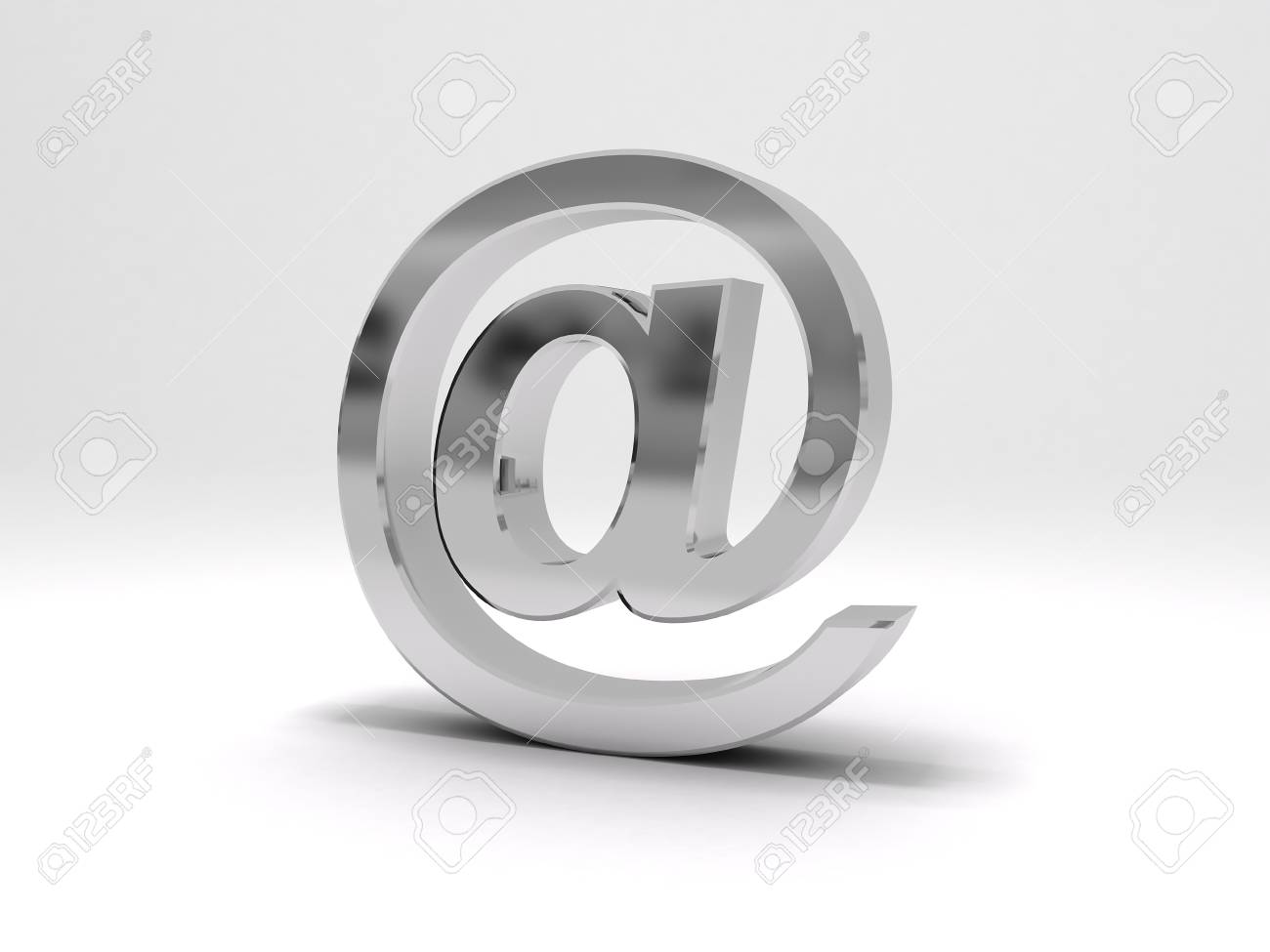 3D email symbol Stock Photo - 13276686