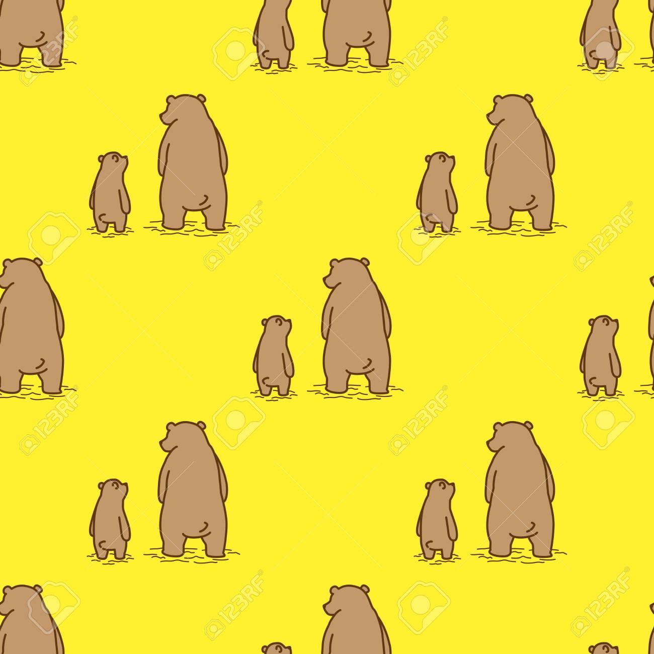 Bear Polar Bear Seamless Pattern Vector Dad Son Isolated Wallpaper