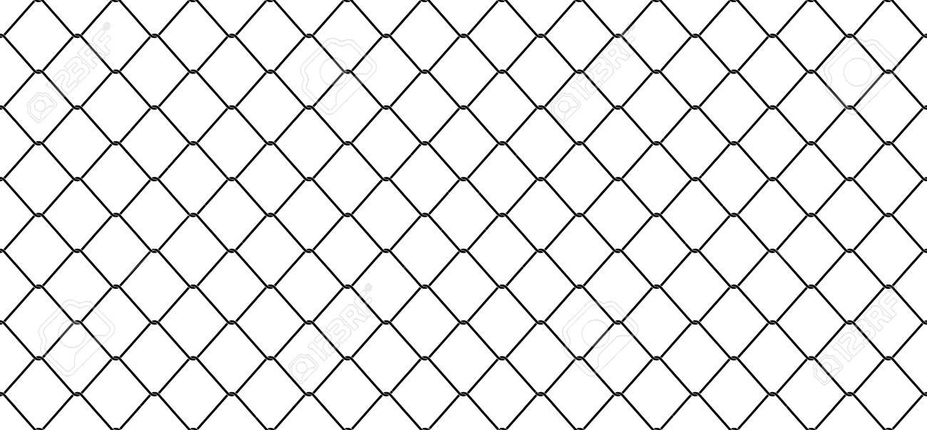 Chain Link Fence Vector To Seamless Pattern Wire Mesh Chain Link Fence Vector Isolated Wallpaper Background Stock Vector 98586600 Link Isolated
