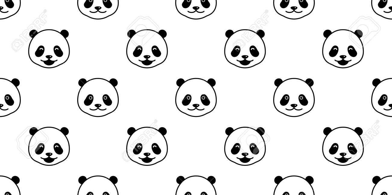 Bear Polar Bear panda Seamless Pattern vector isolated wallpaper background Stock Vector - 102409206