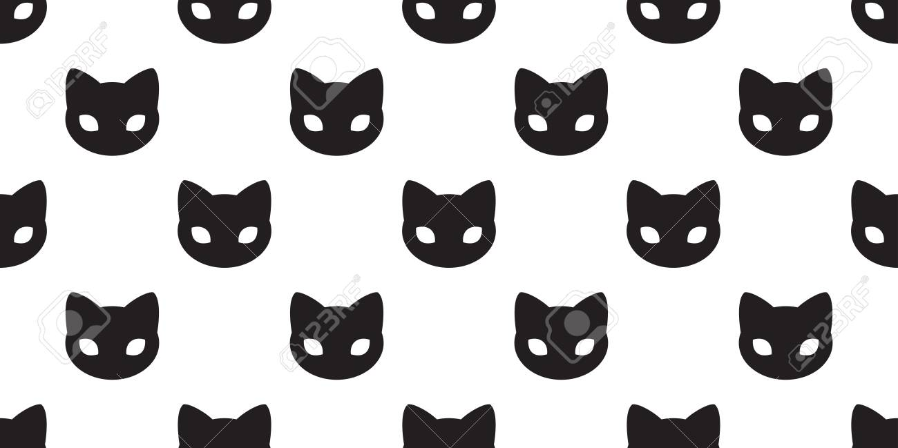 Cat Seamless Pattern Vector Kitten Cat Paw Isolated Doodle Wallpaper Royalty Free Cliparts Vectors And Stock Illustration Image 109628937