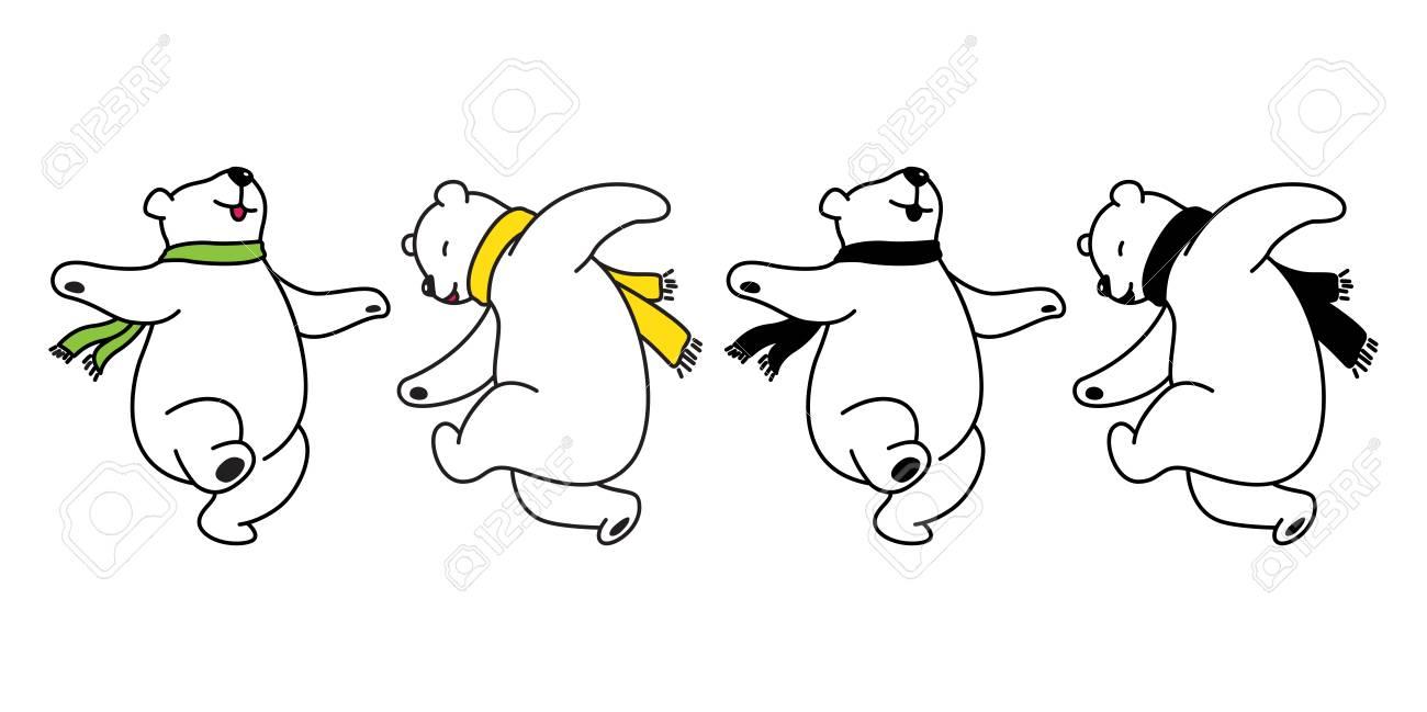 Bear vector logo icon polar bear panda dancing teddy illustration cartoon doodle cute - 118506878