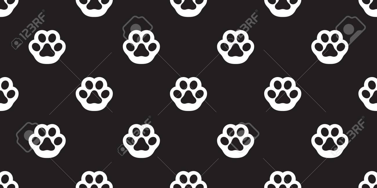 Dog Paw Seamless Pattern Vector Cat Paw Footprint Isolated Repeat Royalty Free Cliparts Vectors And Stock Illustration Image 118507378