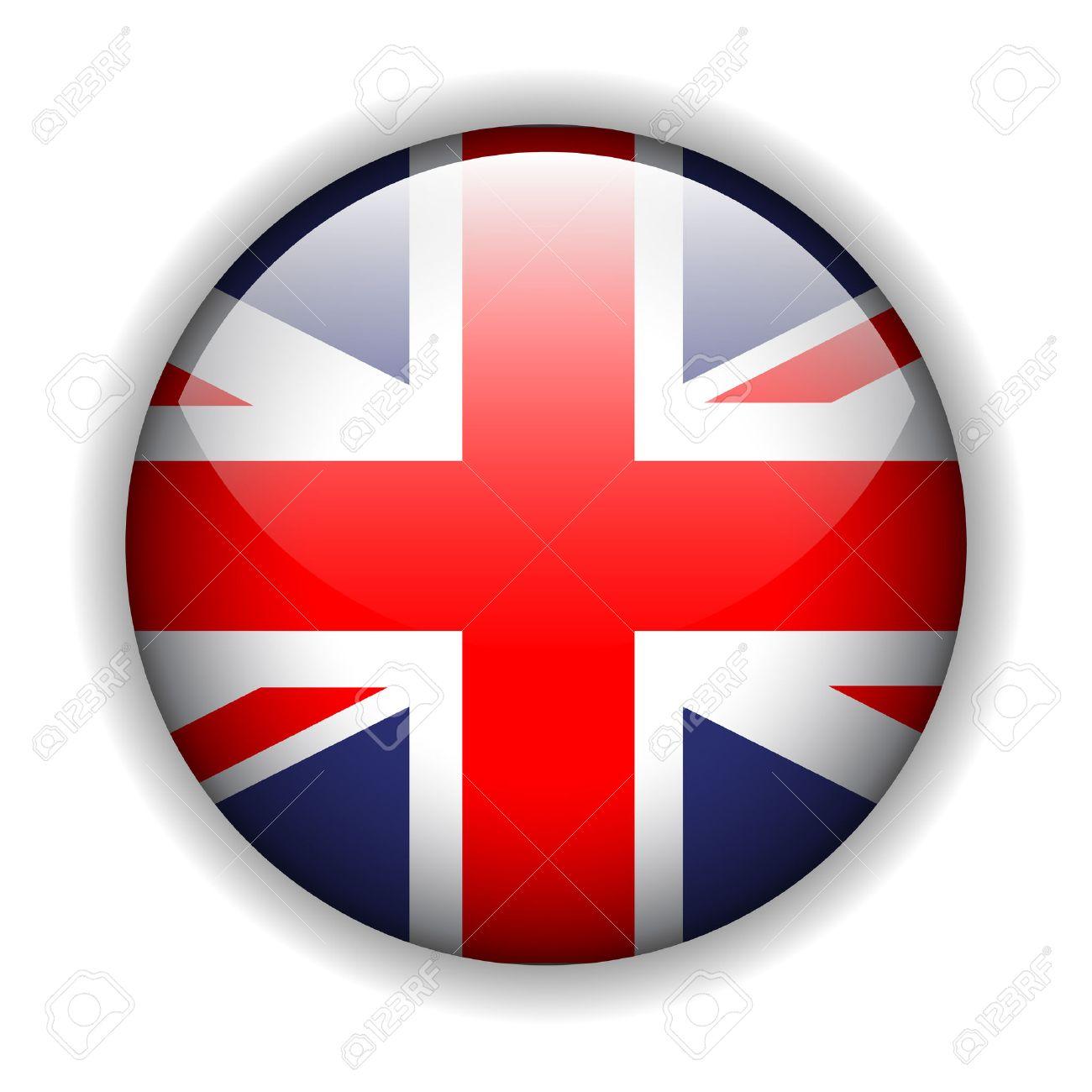 United Kingdom UK flag button, vector - 6394627