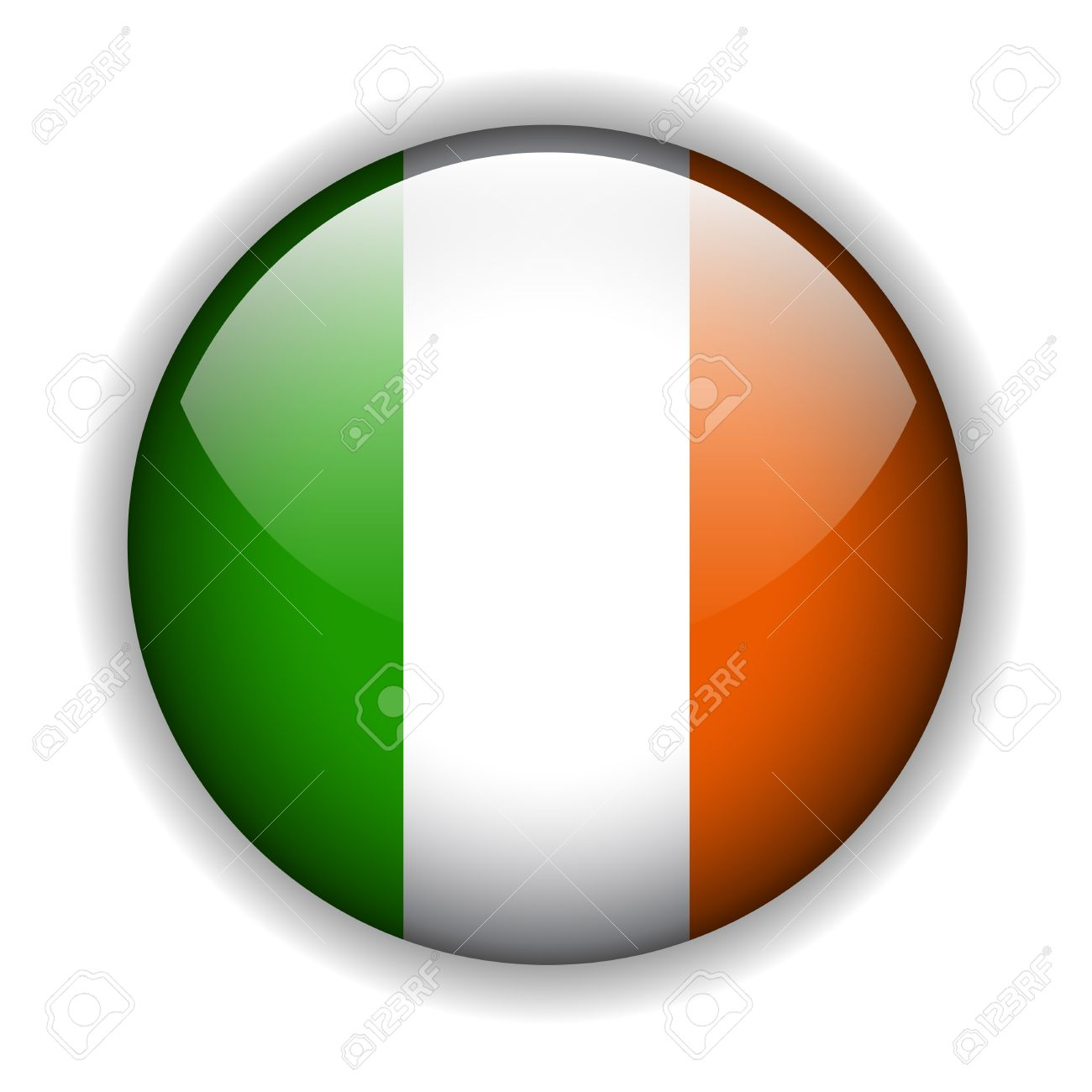national flag of ireland irish flag glossy button royalty free