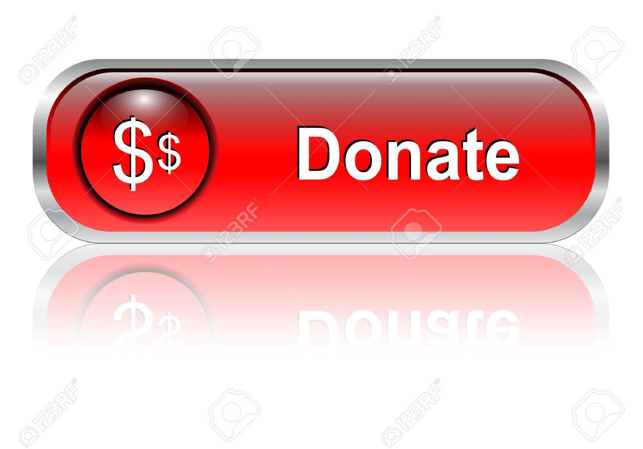Donate, support button, icon red glossy with shadow,  illustration Stock Vector - 6470690