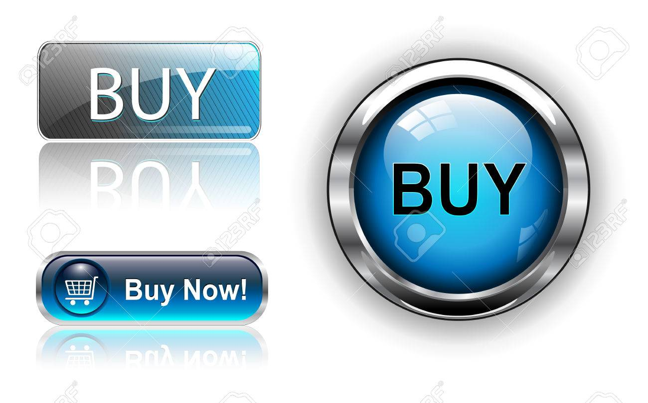 Three different buy icon button blue,  illustration. Stock Vector - 6470742