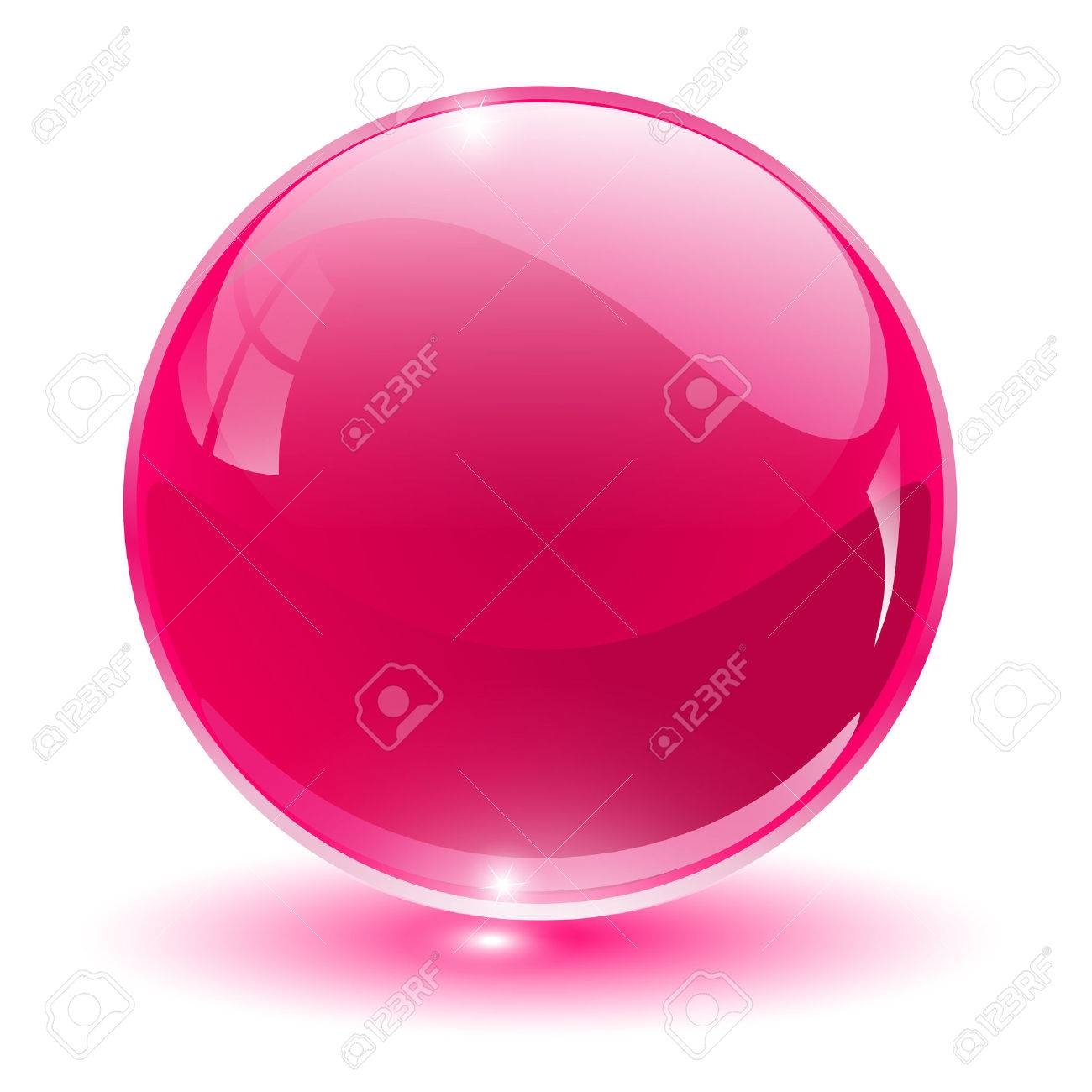 3D crystal, glass sphere,  illustration. Stock Vector - 6596373