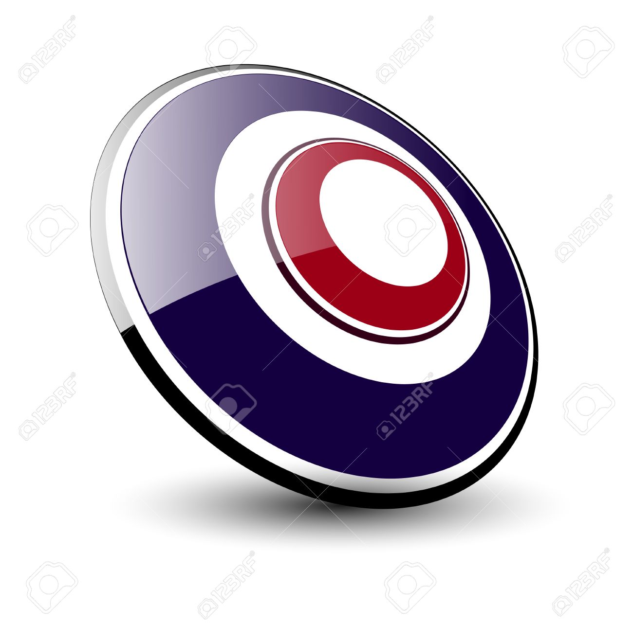 Logo 3d ellipse, blue and red Stock Vector - 6637204