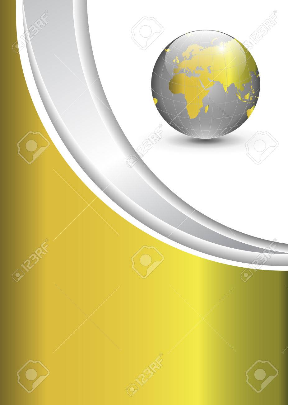 Business gold background with world globe Stock Vector - 6682451