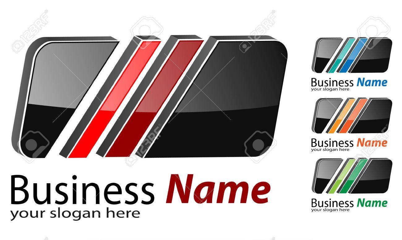 Logo 3d square, multicolored business logo project. Stock Vector - 6729834