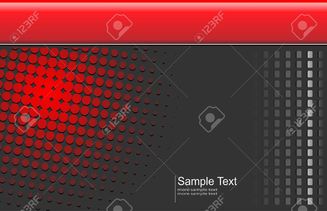 Abstract, business background red and grey with halftone pattern Stock Vector - 6863943