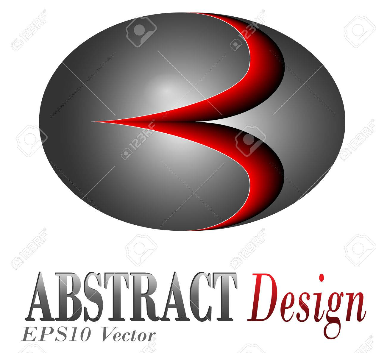 Logo design, glossy metallic sphere with red glow Stock Vector - 6919215