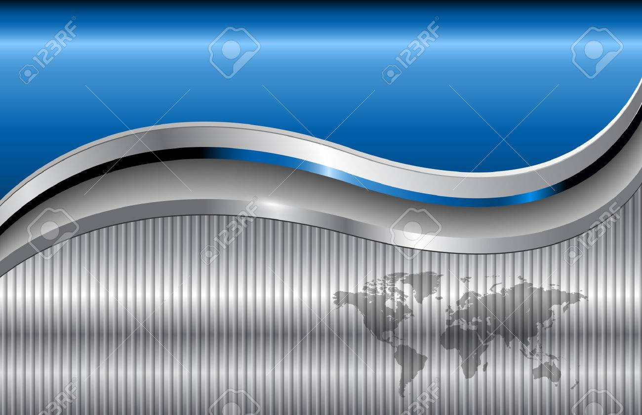 abstract business background blue metallic Stock Vector - 6958759