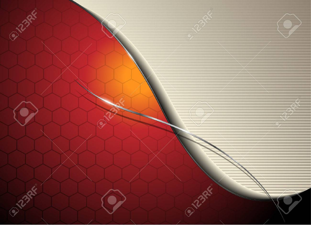 Abstract background orange red Stock Vector - 7055039