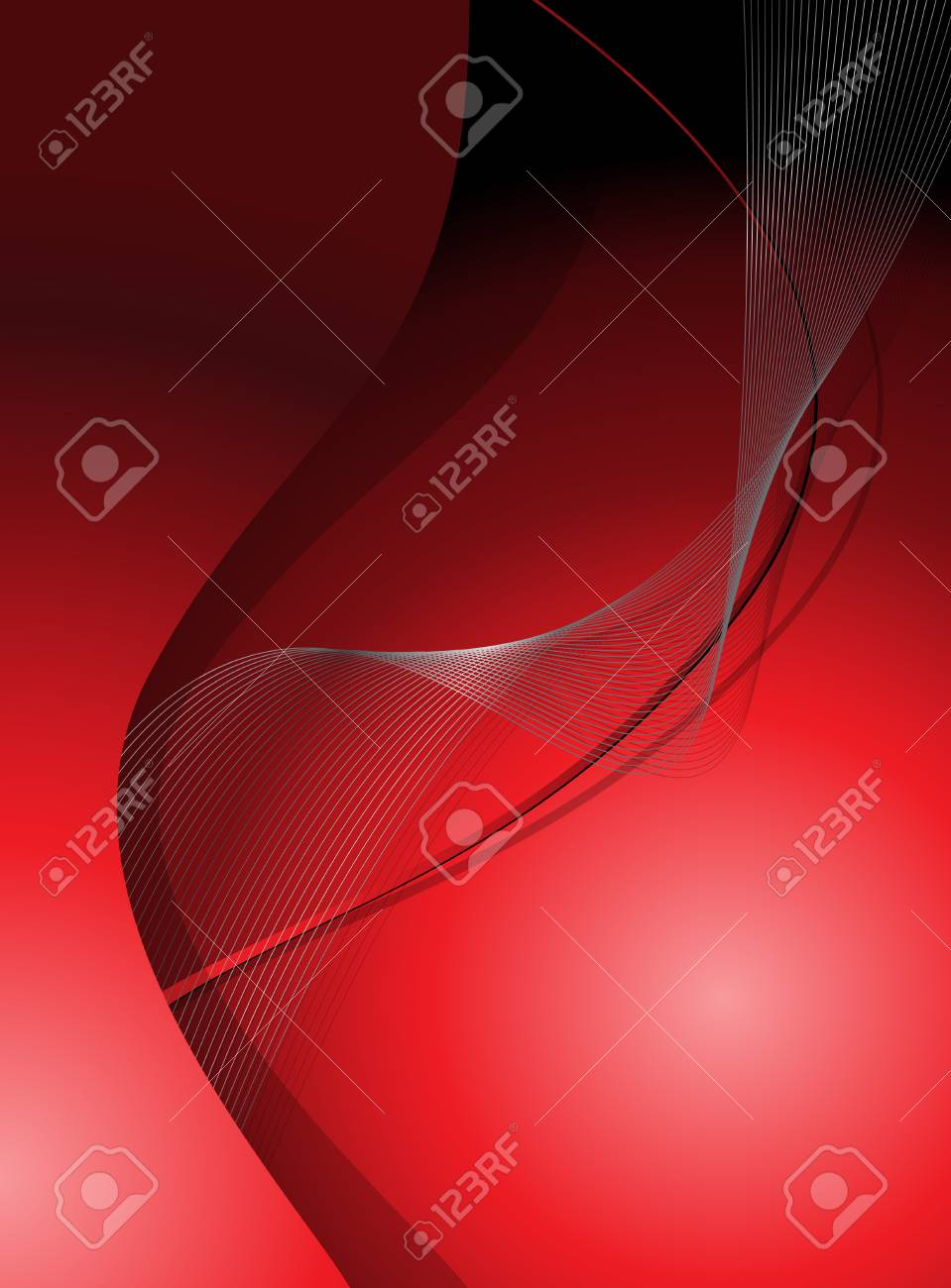 Abstract background, red with fantasy lines Stock Vector - 7131435