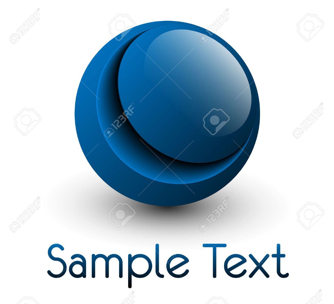 Logo glossy blue sphere Stock Vector - 7313846