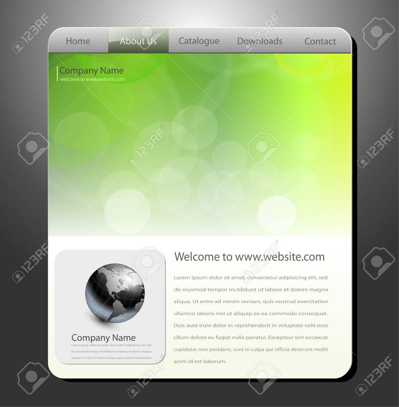 Website template, editable vector Stock Vector - 7440179
