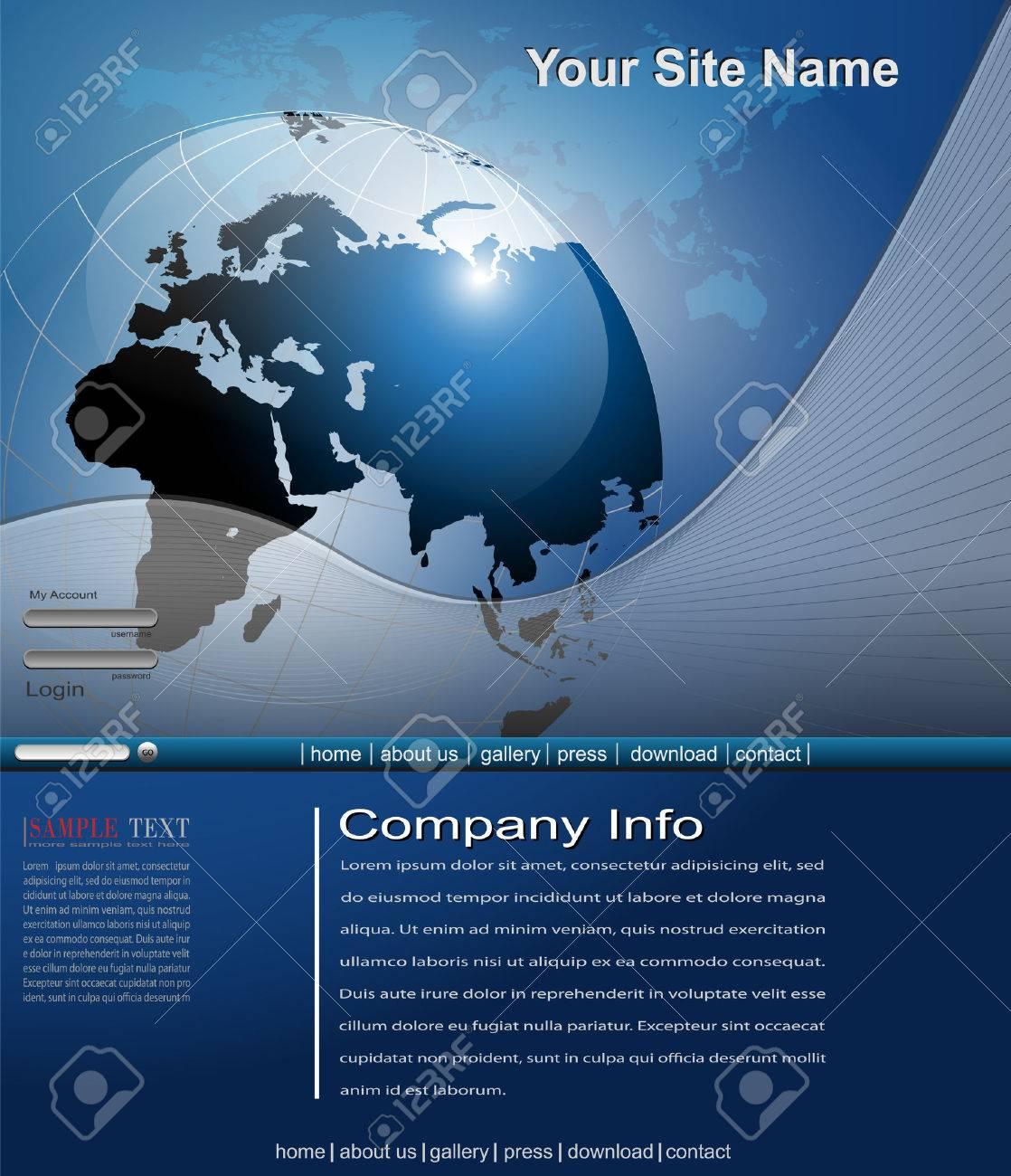 Business website template Stock Vector - 7440205