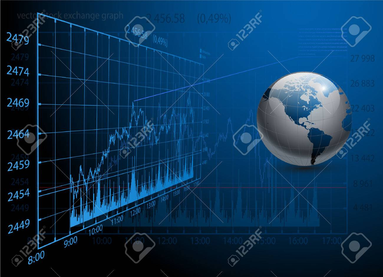 business background blue Stock Vector - 7685242