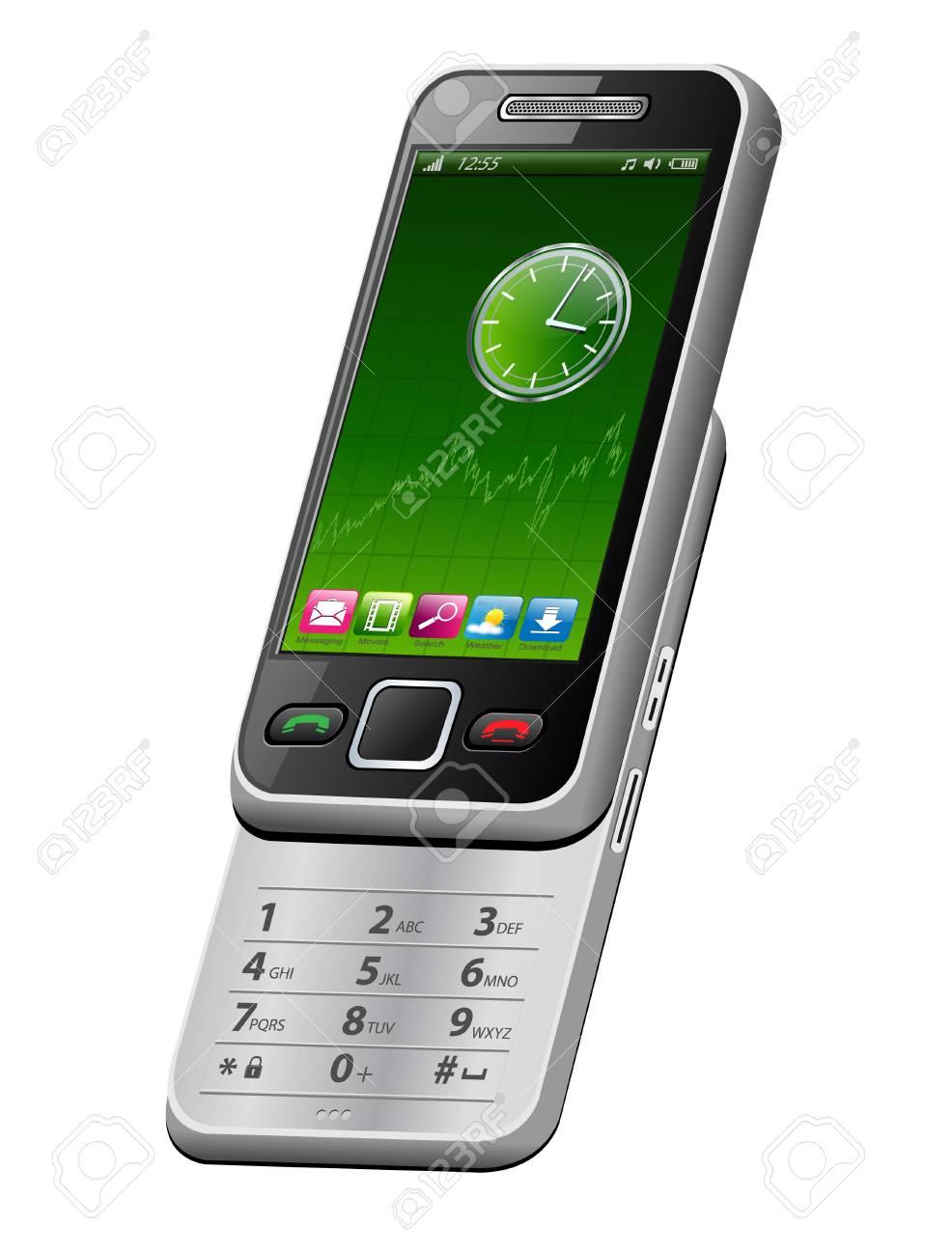Smartphone, mobile phone, Stock Vector - 7815105