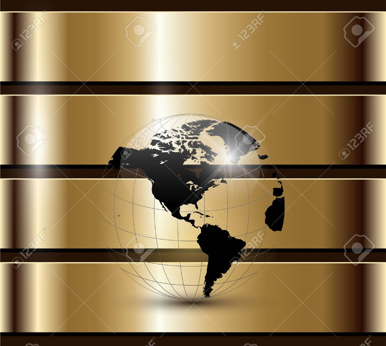 Business background gold Stock Vector - 8531841