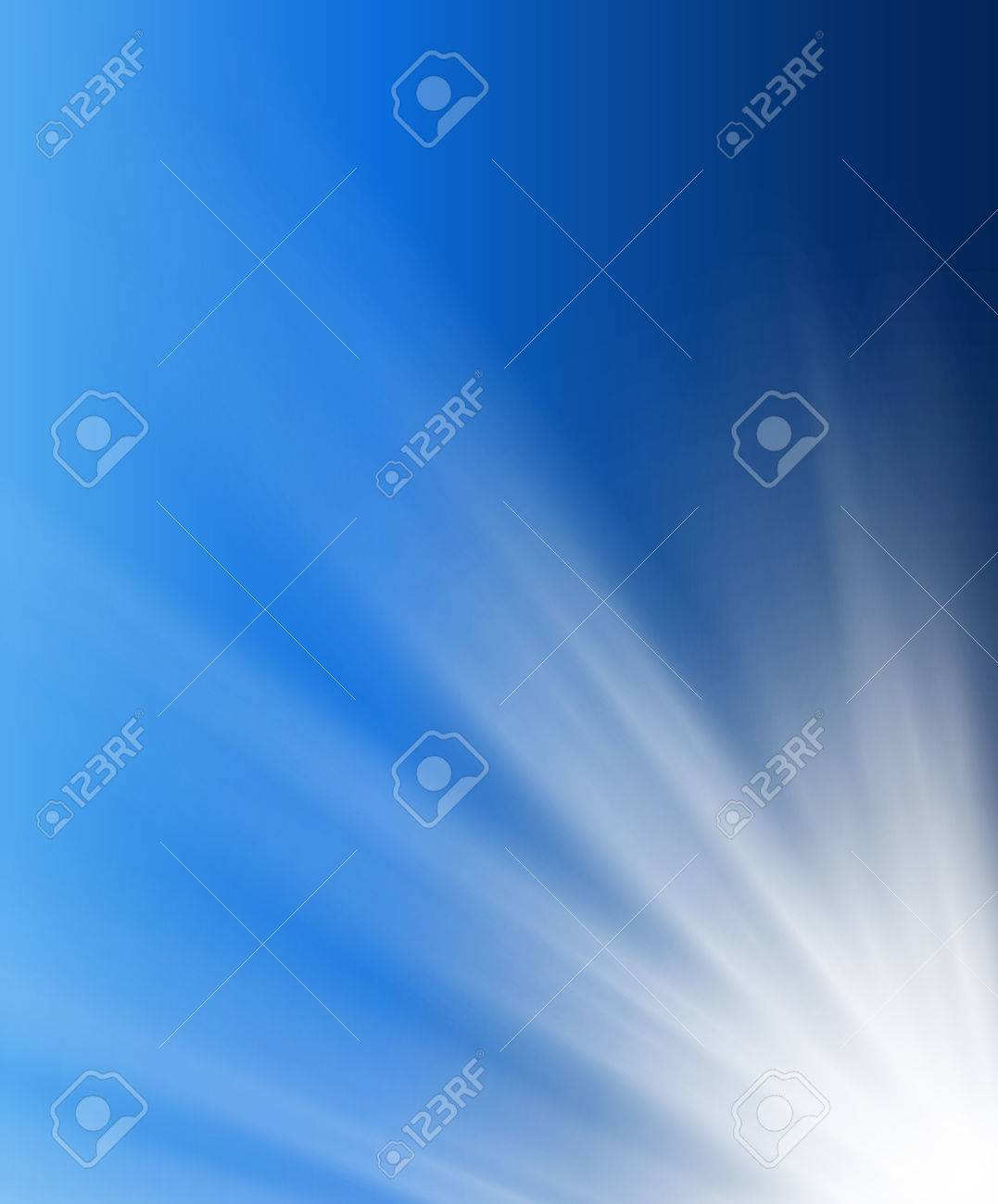 Abstract background soft blue with light beams. Stock Vector - 8755774
