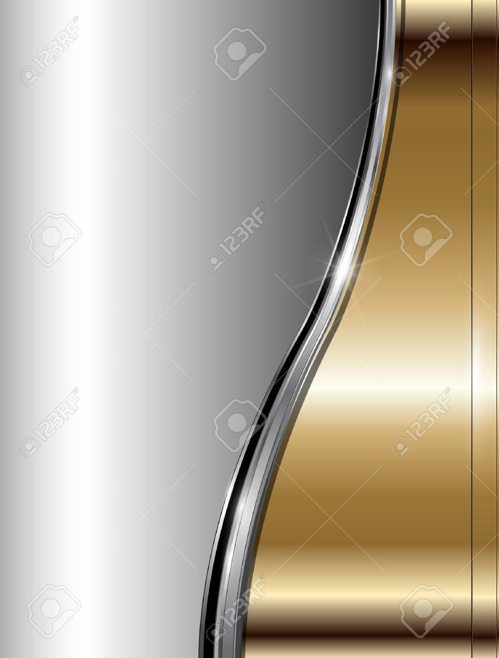 Abstract business background luxury gold metallic, vector. Stock Vector - 8783479