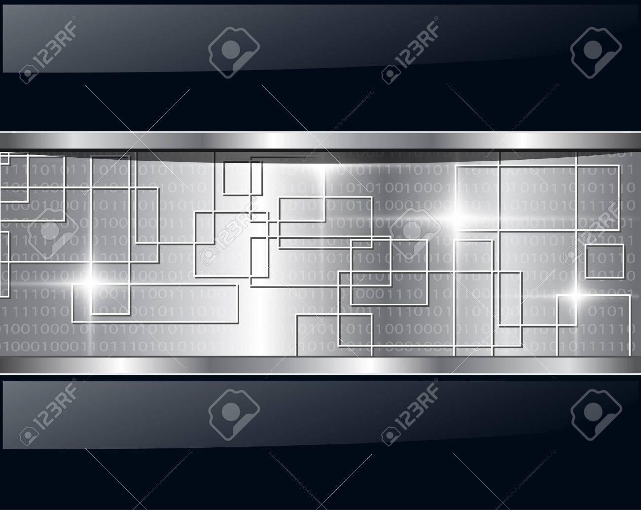 Abstract background metallic technology. Vector illustration. - 9147985